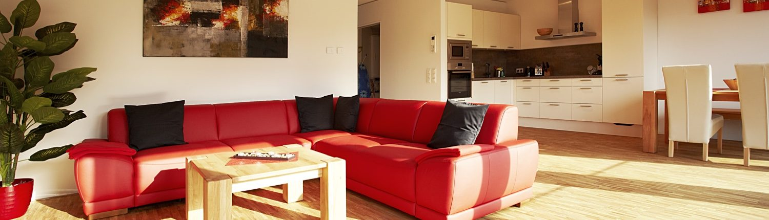 Our serviced apartments have a large living space